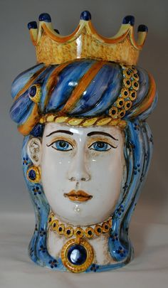 "Traditional Sicilian Head ""Princess"" by APutiaduRe on Etsy"