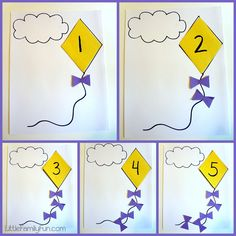 Little Family Fun: Learning Activities kite counting game
