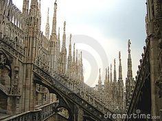 Fantasy city - Rooftops of Duomo Cathedral, Milan, Italy by Mihai-bogdan Lazar, via Dreamstime