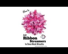 How to Add Ribbon Streamers to Deco Mesh Wreaths. Ribbon adds a lot of texture, color and interest to a deco mesh wreath. In this quick video, learn how Diy Wreath, Burlap Wreath, Wreath Making, Bow Making, Wreath Ideas, Easter Wreaths, Holiday Wreaths, How To Make Wreaths, How To Make Bows