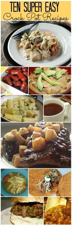 10 Easy Crock Pot Recipes - A Mitten Full of Savings