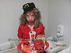 Affordable McDonald's Zombie Costume... This website is the Pinterest of costumes