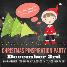 Who's ready to be Pinspired at the Christmas Pinspiration Party on Pinterest on Dec 3rd?! ELEVEN of the BEST bloggers sharing all of their BEST Christmas Pins ever on one board!!!! CLICK THRU TO RSVP and ENTER!!