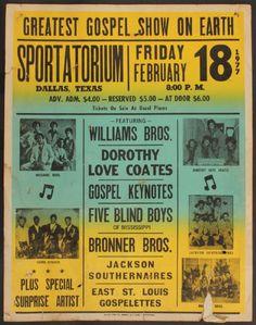Greatest Gospel Show on Earth Vintage Concert Poster