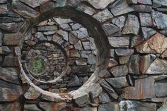 Nancy Holt. Brown mountain stone. 10'h. with outer ring 40' ...    Stone Enclosure: Rock Rings    Western Washington University