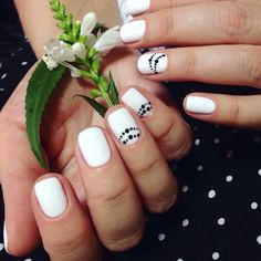 Accurate nails, Beautiful black and white nails, Beautiful bright nails…