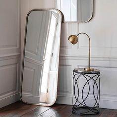 Logan Leaner Mirror | Dunelm Silver Room, Silver Paint, Gold Bedroom Decor, Bedroom Furniture, Bedroom Ideas, Leaner Mirror, Mirror Shapes, Light And Space