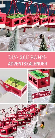 Einmaliger Adventskalender mit Gondeln einer Seilbahn / craft an advents calendar via DaWanda.com