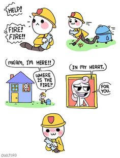 Continuation to Firefighter comic . Browse new photos about Continuation to Firefighter comic . Most Awesome Funny Photos Everyday! Shen Comics, Owlturd Comics, Funny Comics, Funny Cute, Hilarious, Funny Pick, Rage Comic, Beste Comics, 4 Panel Life
