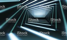 Abstract 3 d corridor perspective royalty-free stock photo
