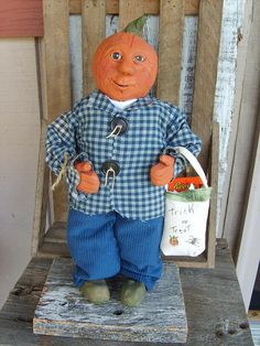 Adorable Pumpkin Kid by PenelopesEmporium on Etsy, $35.00