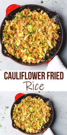 Keto Cauliflower Fried Rice Recipe Low Calorie Low Carb swap the regular starchy white rice in this Asian favorite take out with homemade cauliflower rice cauliflower friedrice rice No Calorie Foods, Low Calorie Recipes, Diet Recipes, Cooking Recipes, Healthy Recipes, Healthy Low Calorie Meals, Low Calorie Dinners, Low Calorie High Protein, Low Carb Crockpot Recipes