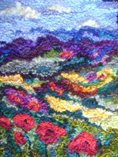 Landscape Play - RUG HOOKING DAILY