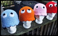 PacMan ghost hats