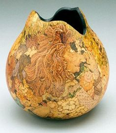 gourd art, Sophie's Salon  by Leah Comerford, 2003