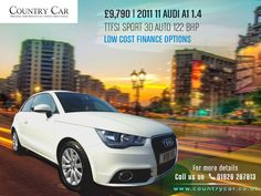 £9,790 | 2011 11 AUDI A1 1.4 TFSI SPORT 3D AUTO 122 BHPLOW COST FINANCE OPTIONS. For more details call us on 01926 267813