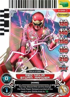 Henshin Grid: Universe of Hope Power Rangers Action Card Game (Series Three) Power Rangers Series, Power Rangers In Space, Power Rangers Ninja Storm, Red Wind, Action Cards, American Series, Abc Family, Green Arrow, Me Me Me Anime