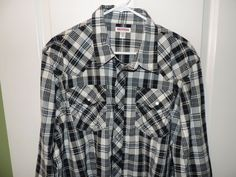 True Religion Designer 100% Cotton Embroidered Plaid Western Shirt SZ 2XL NWT  #TrueReligion #Western