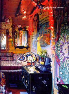 inspiring eclectic boho  | magical cottage in the woods filled to the rafters with gypsy ...