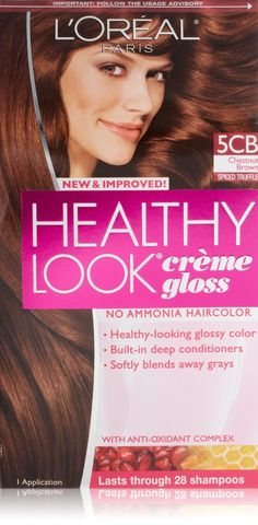 3 pk loreal paris healthy look creme gloss chestnut brown spiced - Coloration Gloss L Oral
