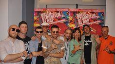 """Elena Bonelli con i rappers romani in occasione della Tavola Rotonda """"DALLO STORNELLO AL RAP"""". #Dallostornelloalrap"""