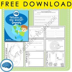 """FREE """"Where in the World?"""" A free mini-geography unit for first grade from Selma Dawani on TeachersNotebook.com -  (13 pages)  - A great packet with activities to help kids understand where they live in relation to the universe!"""