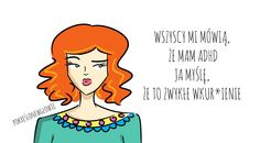 adhd rysunek, kobieta, blog z rysunkami, optymizm