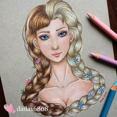 DADA is a multi talented artist who loves drawing with color pencils and is a huge Disney fan. Dada draws Disney character mashups using colored pencils. DADA is… Drawing Cartoon Characters, Character Drawing, Cartoon Drawings, Cartoon Art, Cute Drawings, Disney Characters, Drawing Faces, Drawing Art, Drawing Tips