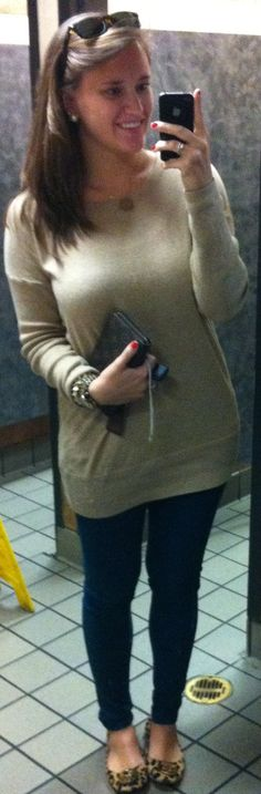 tunic with jeans and flats.casual.