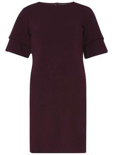 Berry Double Ruffle Shift Dress - Shift Dresses - Dresses - Dorothy Perkins