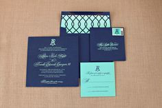 Engraved Palm Beach Wedding Invitations by Nico and Lala