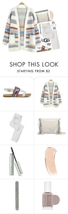 """""""Play With Prints In UGG: Contest Entry"""" by becky12 ❤ liked on Polyvore featuring UGG Australia, McQ by Alexander McQueen, Bobbi Brown Cosmetics, Essie, Daniel Wellington and thisisugg"""