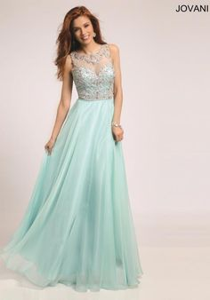 Jovani Beaded A Line Dress 80862