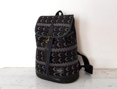 Suede printed leather  backpack van BROMO Barcelona op DaWanda.com