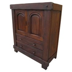 French Antique Rustic Server Cabinet Antique Furniture