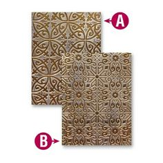 *EL-019 Spellbinders ORNAMENTAL IRON M-Bossabilities Embossing Folder