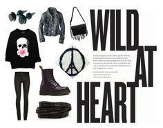 """Wild at heart"" by lolliapplepop on Polyvore featuring American Eagle Outfitters, Dr. Martens, Pieces, women's clothing, women's fashion, women, female, woman, misses and juniors"