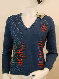 Celebrity Women V Neck Ribbed Pullover Stretchy Knit Snowflake Sweater Tunic Top