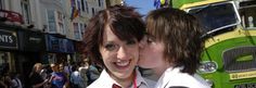 Photo of two women at Brighton Pride