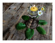 Spring Fresh Country Flower Up Cycled  Candle by MenasRusticDecor, $13.25