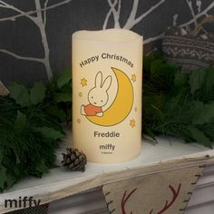 Personalised Miffy Moon & Stars Nightlight LED Candle – Cc's Boutique - Personalised & Unique Gifts