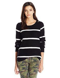 PINK ROSE Women's Aubrey Raglan Pullover Sweater