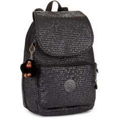 Kipling Cayenne Small Backpack (315 BRL) ❤ liked on Polyvore featuring bags, backpacks, bags & luggage handbags, day pack backpack, kipling bags, zipper bag, kipling rucksack and top handle bags