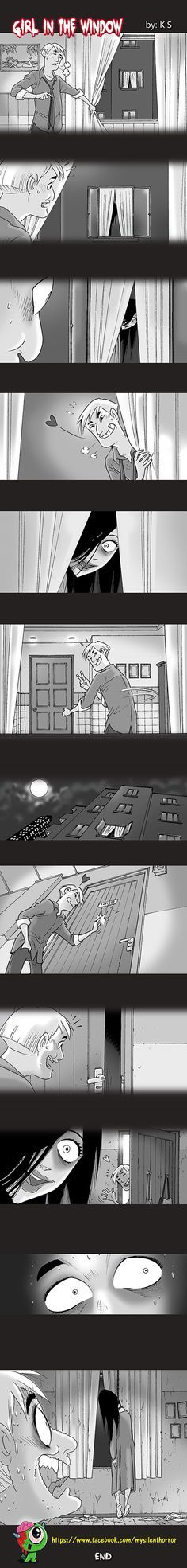 Silent Horror :: Girl in the Window | Tapastic Comics - image 1 Girl in the window