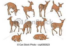 Deer Drawing, Drawing Poses, Drawing Sketches, Cartoon Drawings, Animal Drawings, Art Drawings, Deer Pictures, Pictures To Draw, Character Drawing