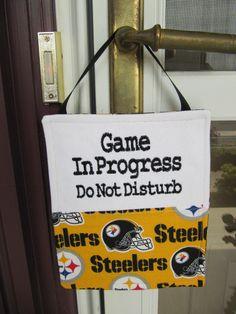 Pittsburg Steelers Door Hanger by ThimbleFairies on Etsy, $18.00