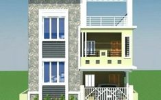 Normal House Front Elevation Designs Single Floor is part of Front elevation designs - 3 Storey House Design, Duplex House Design, House Front Design, Small House Design, Independent House, Big Modern Houses, Modern House Plans, Front Elevation Designs, House Elevation