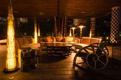 Lopesan Baobab interiors at night Canario, African, Interiors, Table Decorations, Night, Inspiration, Home Decor, Maspalomas, Biblical Inspiration