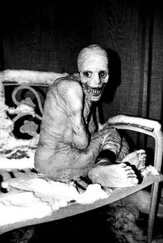 Strange << I'm pretty sure that one of the pictures from the Russian Sleep Experiment…