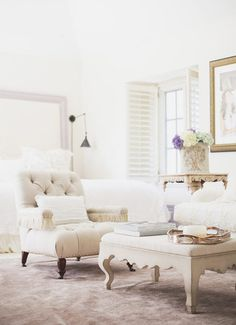 Fresh and airy living room: http://www.stylemepretty.com/living/2015/08/05/soft-luxurious-los-angeles-home-tour/ Photography: Tessa Neustadt - http://tessaneustadt.com/